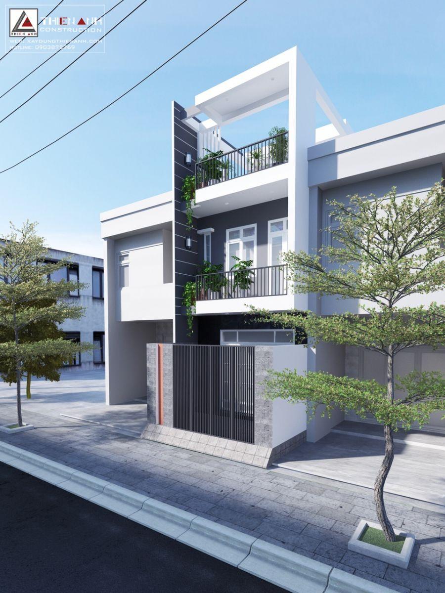 Công trình xây dựng nhà phố tại Phường Long Trường, Quận 9, TPHCM, được thiết kế và thi công bởi công ty Thiên Anh