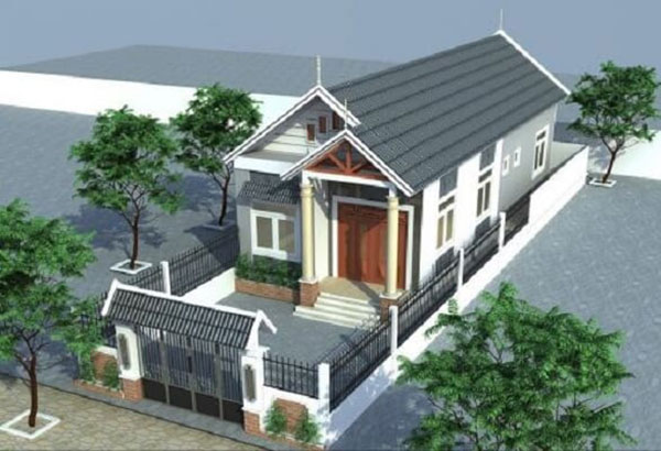 Một số mẫu nhà mái thái 1 tầng tiết kiệm chi phí