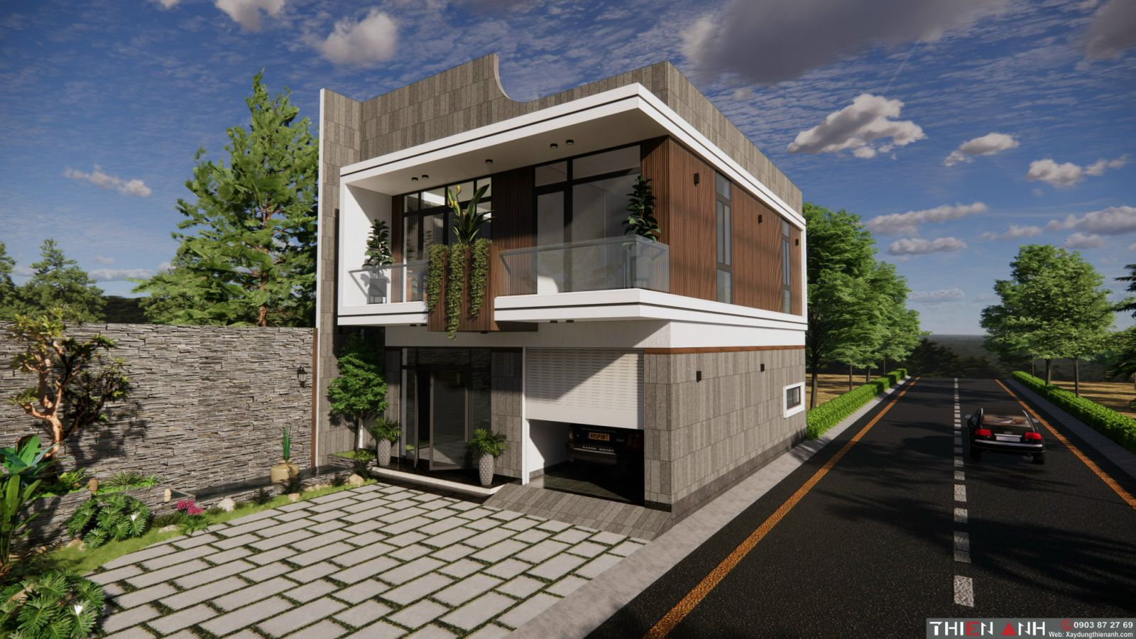 mau thiết kế nhà hiện đại năm 2021