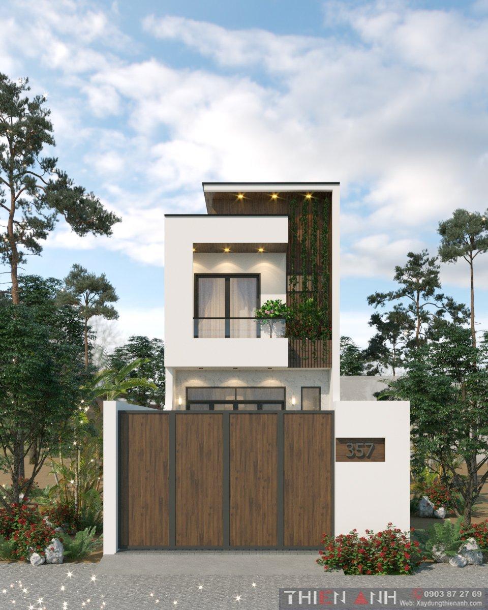 thiết kế 3D nhà phố hiện đại