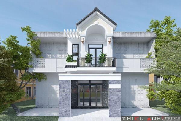 Vì sao khách hàng chọn thiết kế mặt tiền nhà phố 5m tân cổ điển