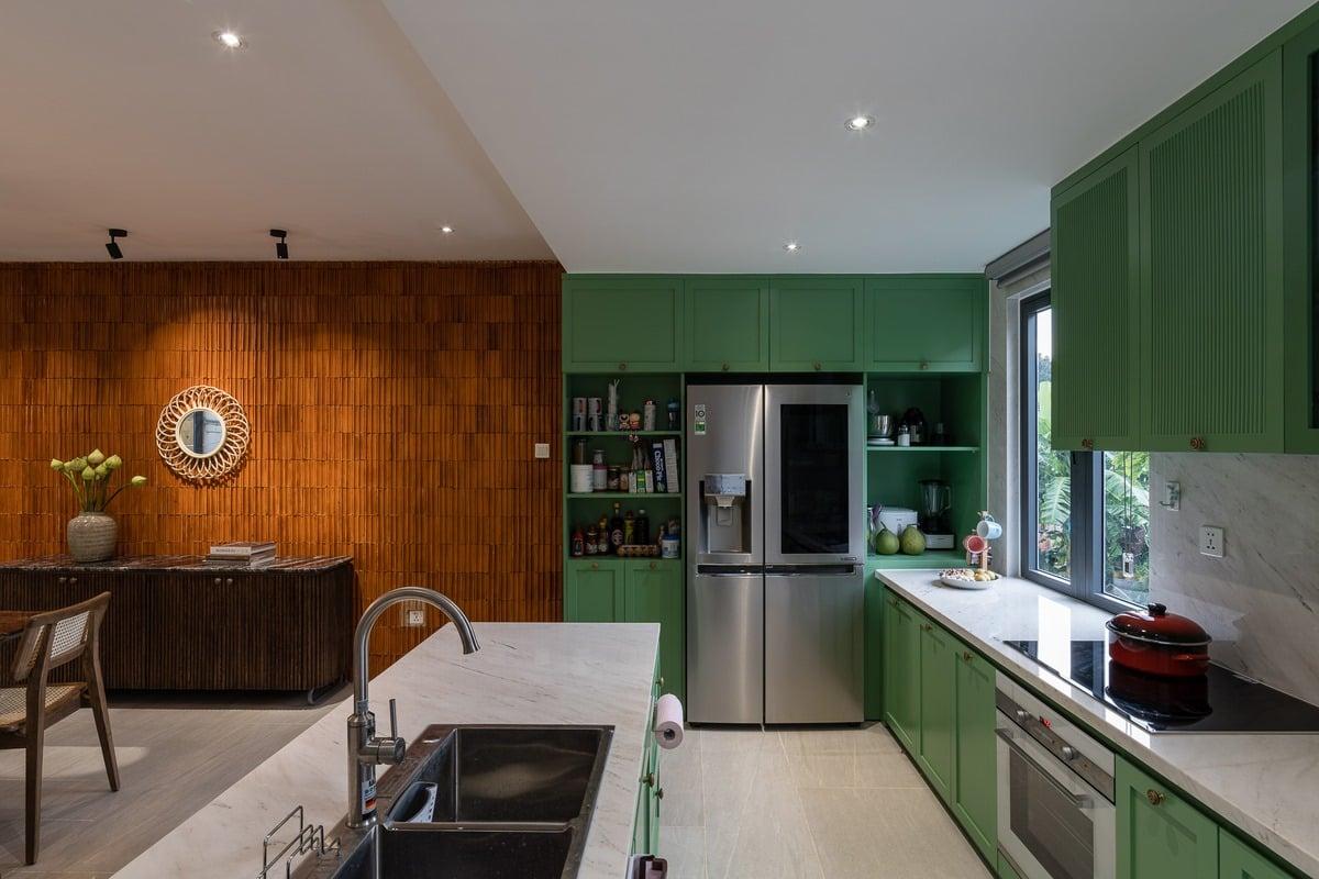 nhà bếp nhà phố xanh xâydựngthiênanh