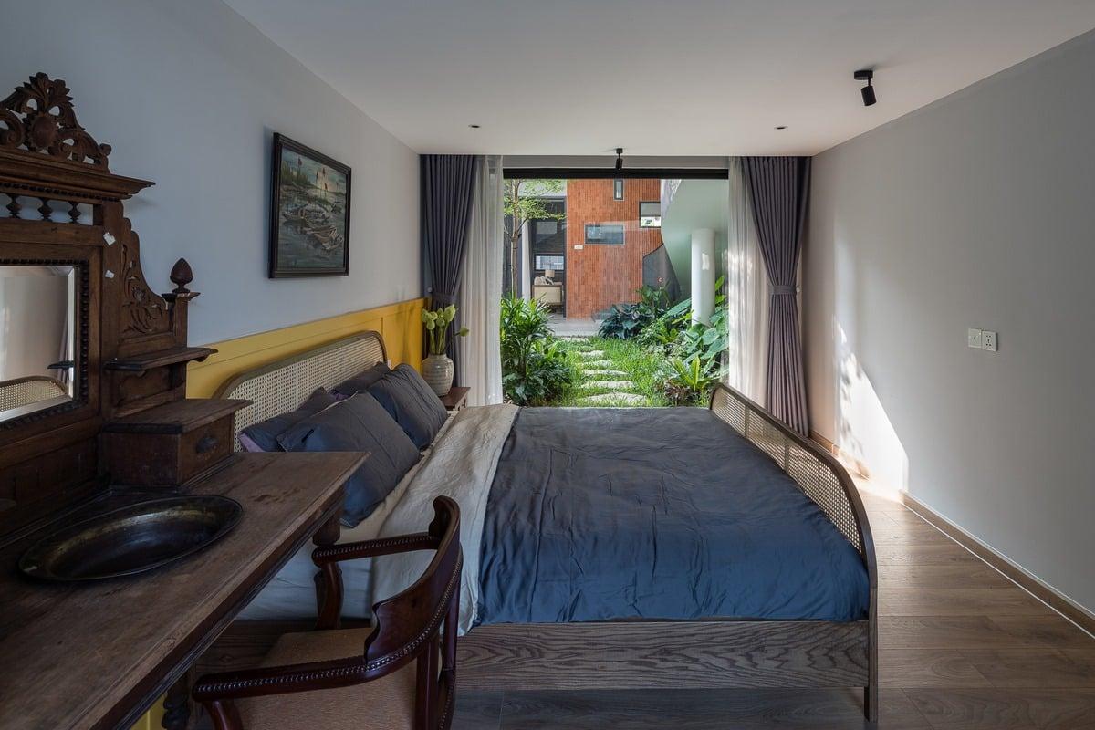 phòng ngủ nhà phố xanh xâydựngthiênanh