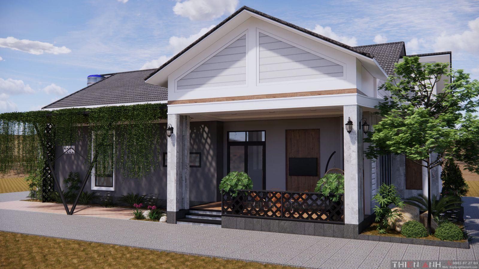 thiết kế nhà đẹp mái thái
