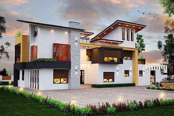 mẫu thiết kế biệt thự sân vườn 300m2