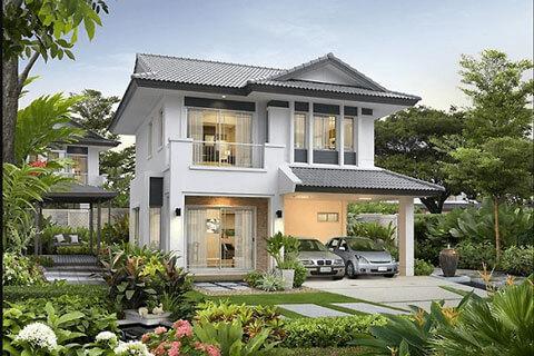 Khám phá ngay những kiểu nhà mái thái đẹp 2 tầng