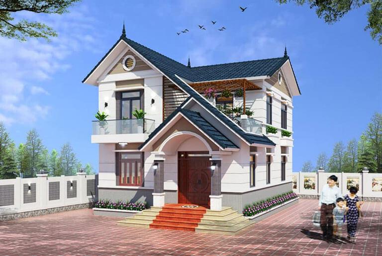 Nhà mái thái thiết kế 2 tầng đẳng cấp