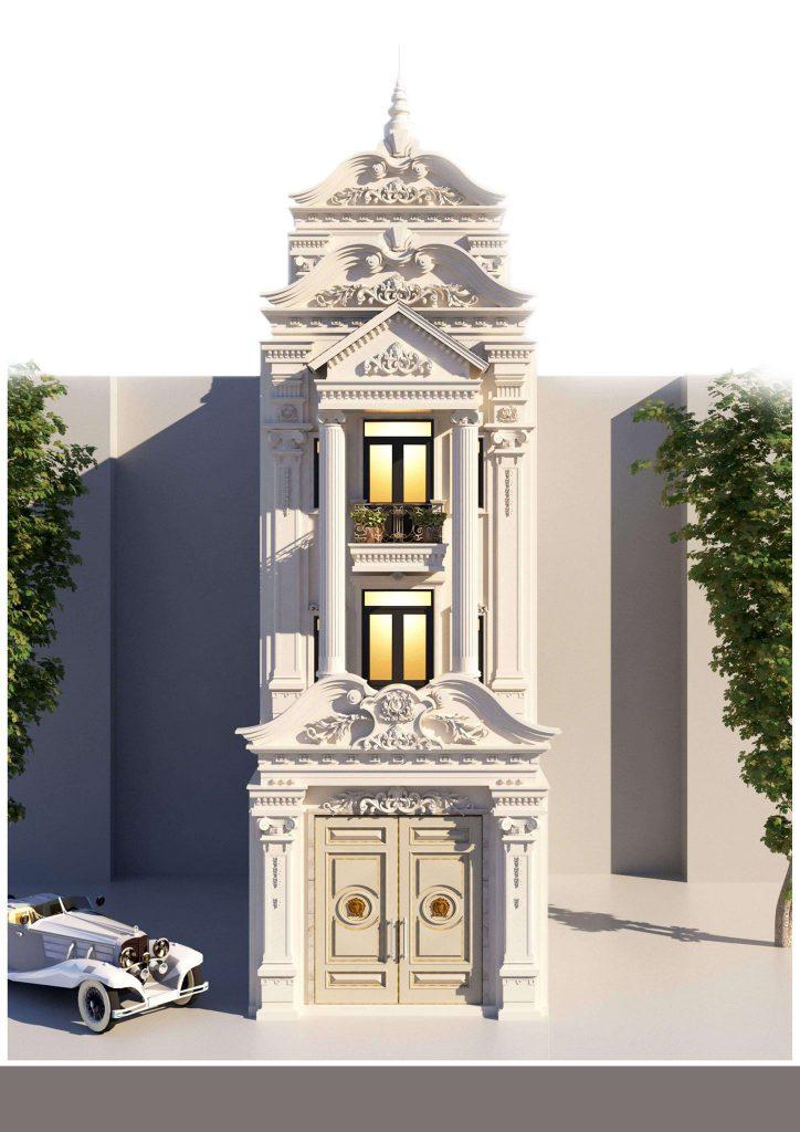 Mẫu 1 nhà phố cổ điển