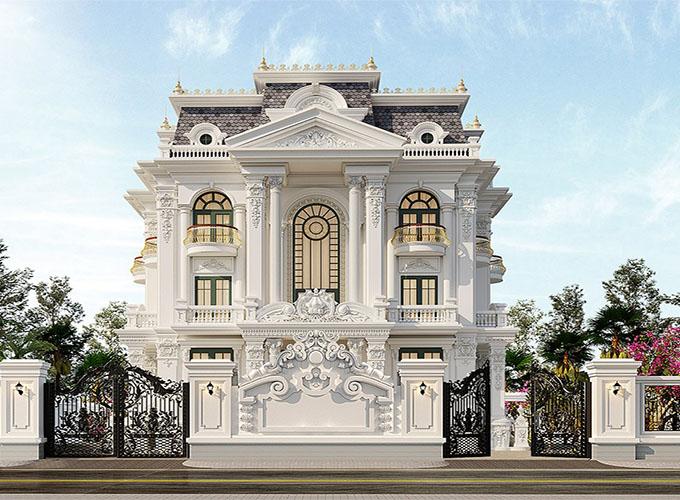 Mẫu 2 mẫu thiết kế nhà phố cổ điển