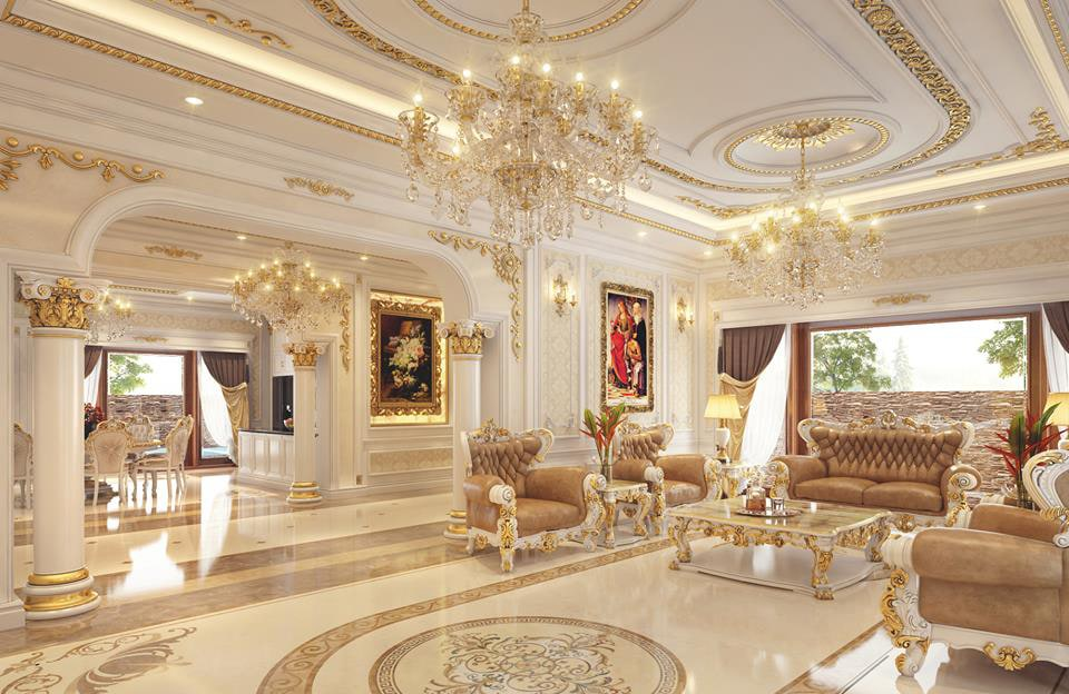 3 lý do khiến phong cách thiết kế nội thất biệt thự cổ điển được lựa chọn cho các căn biệt thự