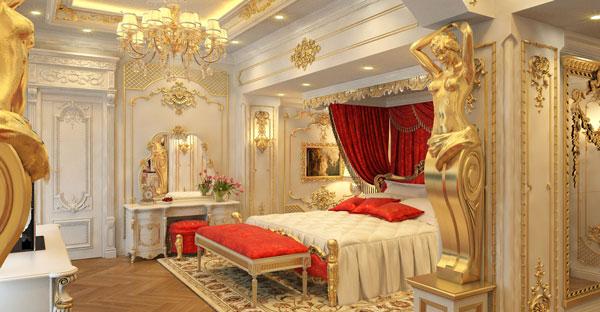 Thiết kế nội thất biệt thự tân cổ điển luôn được sắp xếp một cách hài hòa và đối xứng