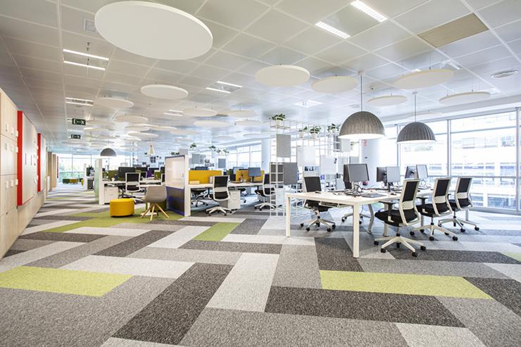 Mẫu thiết kế văn phòng cho thuê theo kiểu Hybrid Office