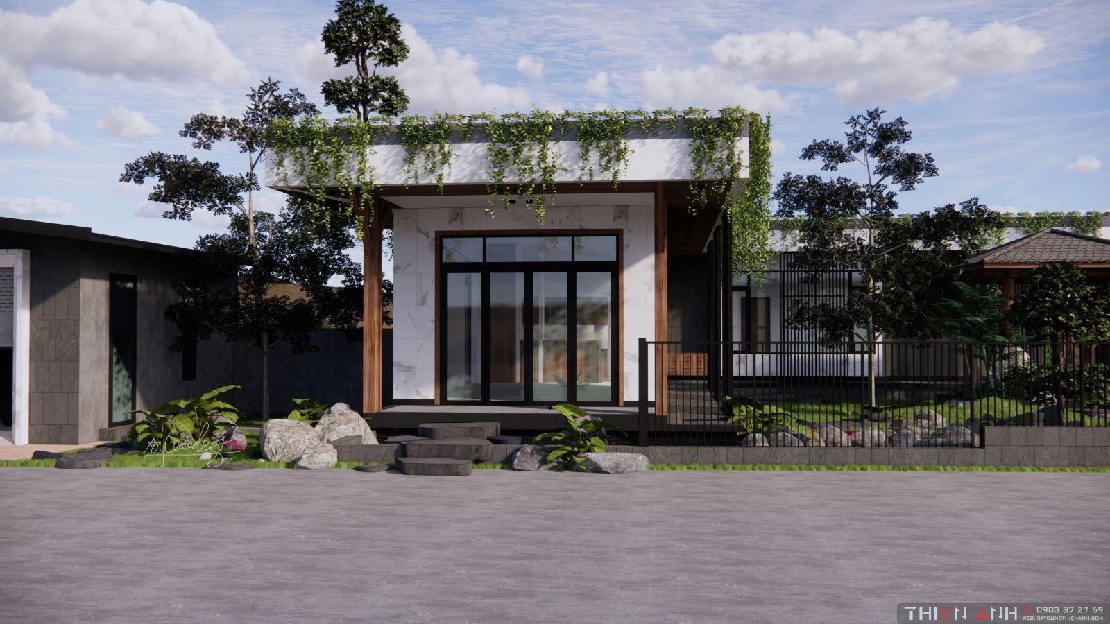 thiết kế nhà vườn hiện đại