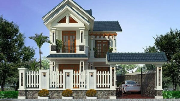 Nhà mái thái 2 tầng có tính thẩm mỹ cao chi phí thấp