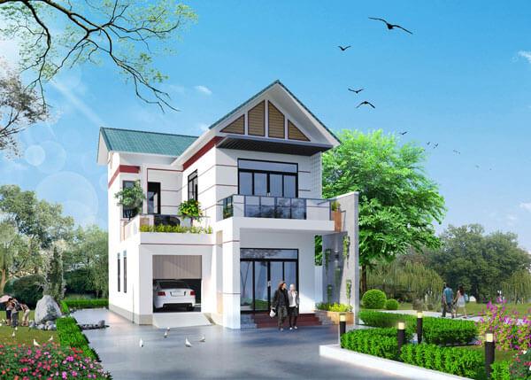 Những chú ý quan trọng khi xây nhà 2 tầng mái thái giá rẻ